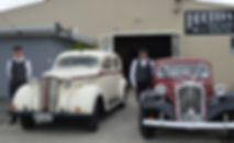 Two Napier based Classic Cars ready to chauffeur a bride on her wedding day