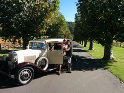 Weekend away with vintage rental car