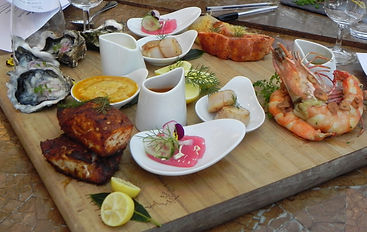 Fresh seafood platter, part of a luxury gourmet experience