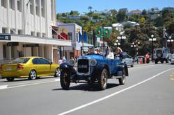 Touring Napier in an open top car