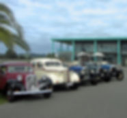 Classic car winery tour and convoy in Napier