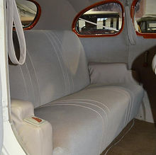 The spacious and comfortable interior of our 1937 Dodge