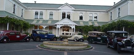 Classic car convoy at Hawkes Bay Winery