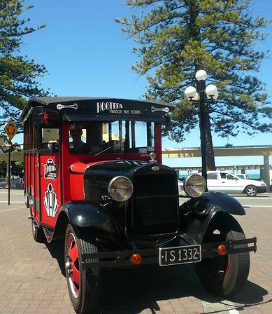 Group vintage bus tours of Napiers art deco buildings