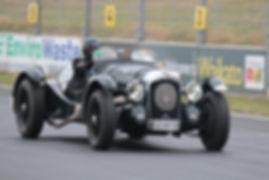 David Brock-Jest racing his V12 Lagonda at Hampton Downs Racetrack