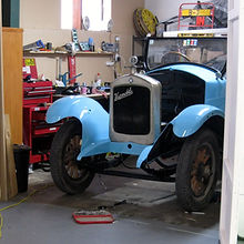 A new coat of paint in a traditional Hupmobile colour