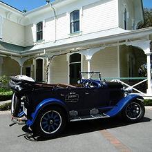 Vintage car tour at the Mission Estate Winery Napier