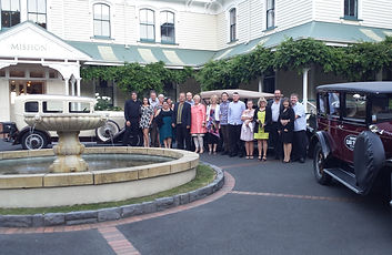 Conference guests enjoying a unusual transfer to Mission Estate Winery NZ