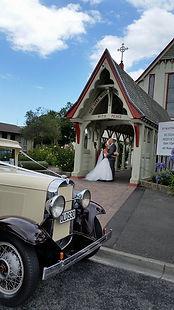 vintage style wedding at Esk Dale Church NZ