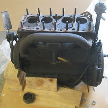 Stripped engine from Vintage Hupmobile