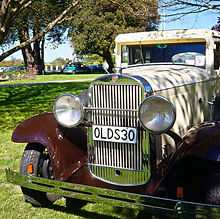 Classic Oldsmobile on a self drive rental