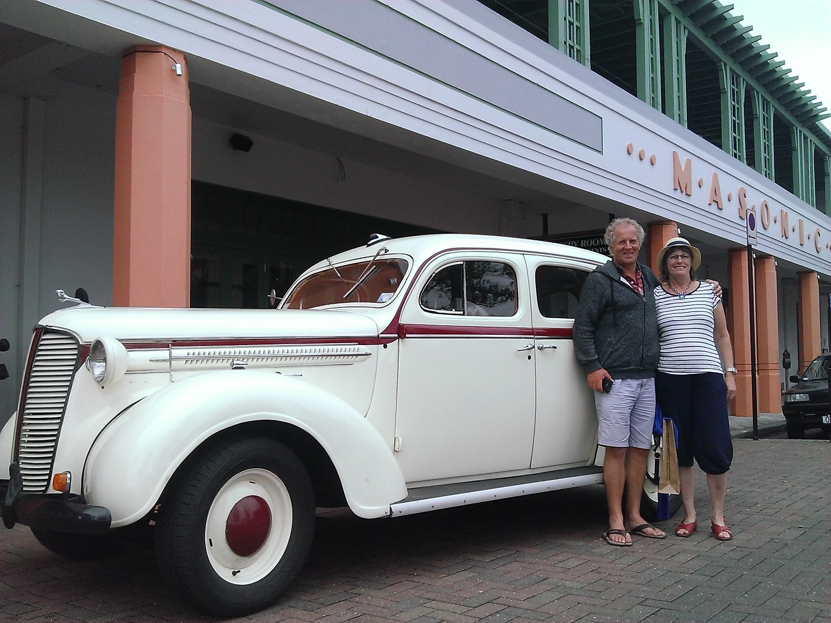 Couple on tour around Napier, NZ