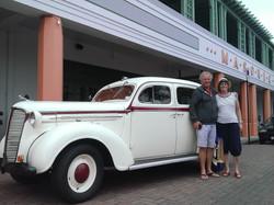 Couple on tour around Napier, NZ