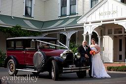 VIP wedding car at Mission Estate winery, Napier