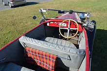 Old timer car with comfortable interior