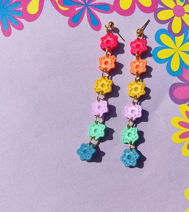 Rainbow Flower Button Drops