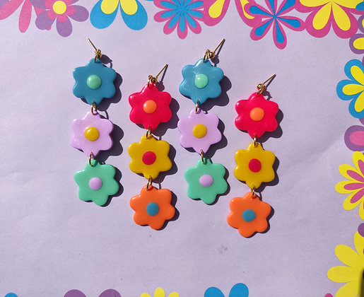 Candied Flower Dangles