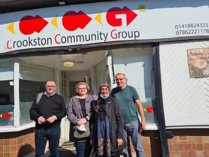 CCG meeting with Pauline McGinley GilgallonKevn Simpson,Jeremy from Threehills community supermarke