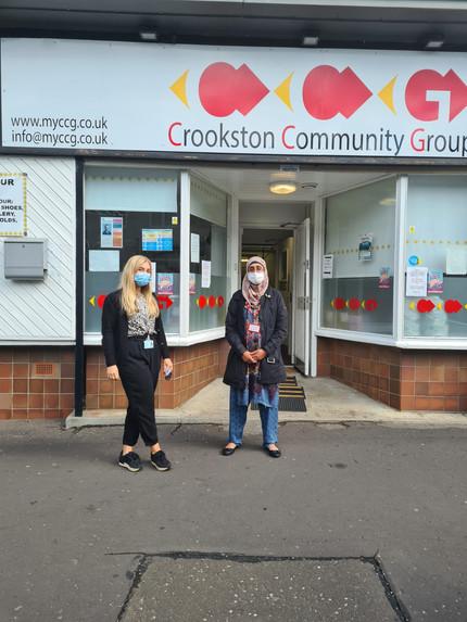 Rachel from Pollok Health Centre with Nasreen CCG