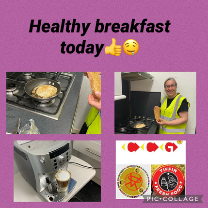 Our Volunteer Soaad is v happy chef to make us a healthy breakfast! Thank you 😁😃✨