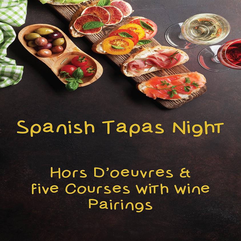 Spanish Tapas Dinner with Spanish Wines