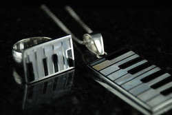 Chester Piano Keys Adjustable Ring & Pendant.jpg