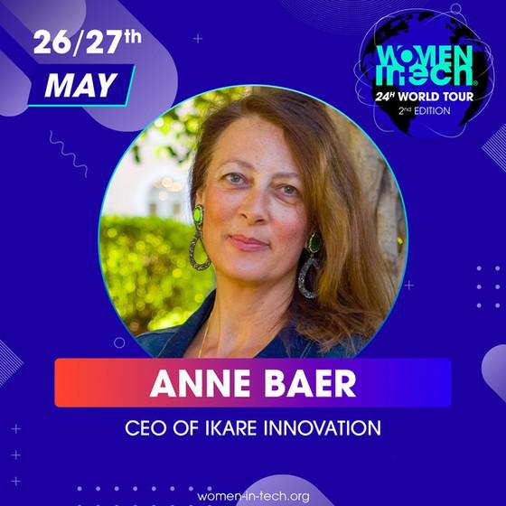 Anne Baer, speaker at Women in Tech's 24H World Tour