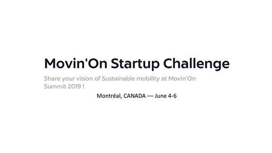 Mobility Startups Challenge @ Movin'on Summit