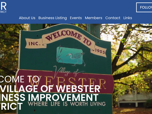 The Webster BID website had a makeover