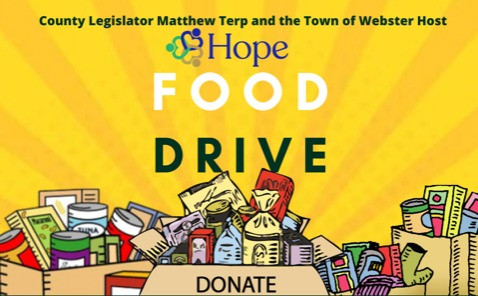Food drive benefiting Webster's HOPE Ministry this Saturday