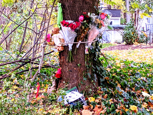 A memorial on Gasberry Lane honors lost Webster teen