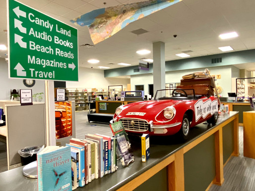 Travel Display at Webster Public Library