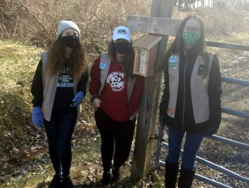 Girl Scouts help spread word about Webster's trails