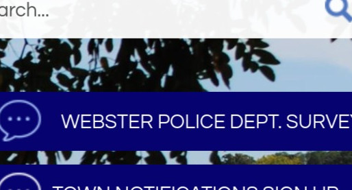 Webster PD posts community survey