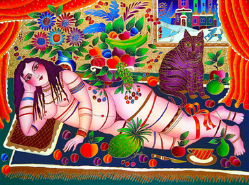 Girl with fruit and a cat 40x30-web.jpg