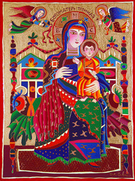 297 30X40 MADONNA AND CHILD WITH TWO ANG