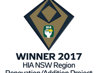 John R Dean Constructions Pty Ltd named a WINNER at the 2017 HIA-CSR NSW Housing Awards