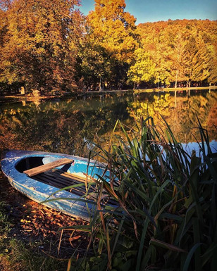 Felsőtárkány tópart ősszel