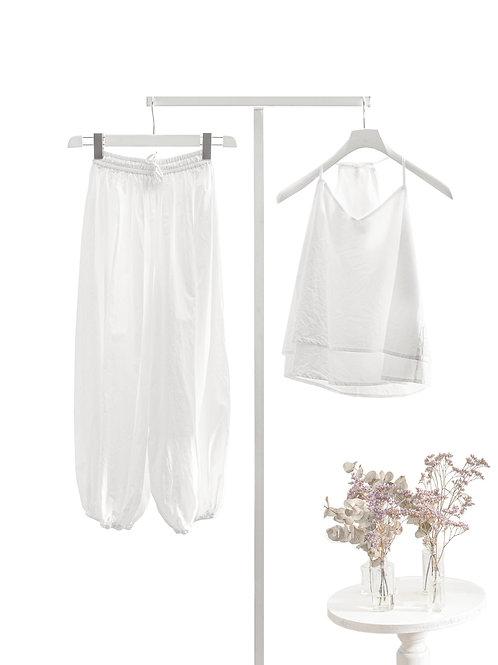 Opal White Yogasuit