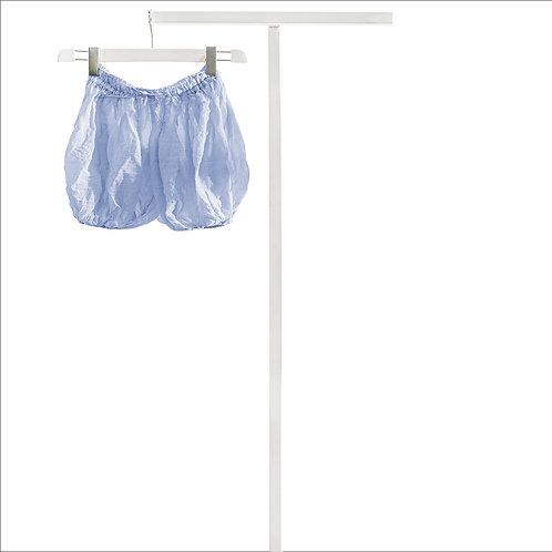Shorts Yoga in cotone - Azzurro Cielo