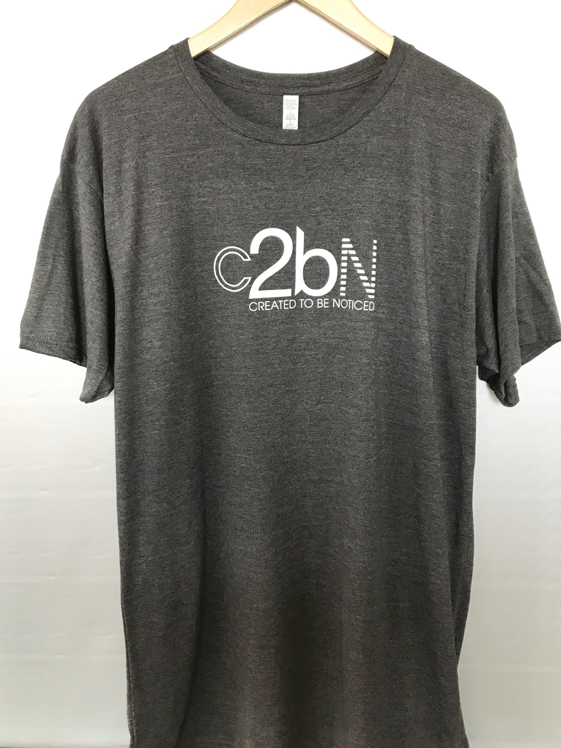 Created To Be Noticed (c2bn) - Long Body T-shirt (Gray)