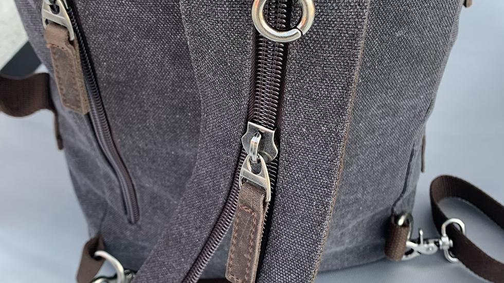Backpack/Duffel (Smoke-Dark Grey) - Created To Be Noticed C2BN Bags