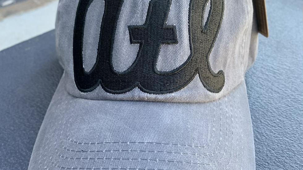 atl Hat - Atlanta  (Distressed) - Grey