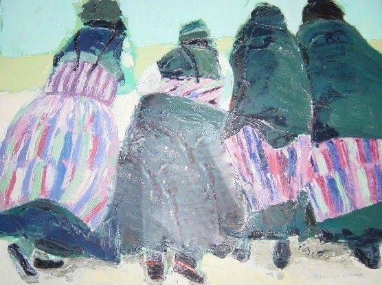 Groupe de femmes tibétaines