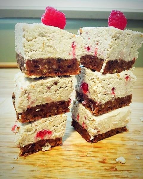 Cashew Raspberry Cheesecake - Vegan, Paleo, Gluten-Free
