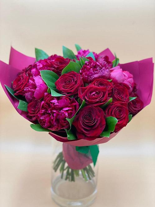 Пионы Город Цветов RadaFlowers доставка цветов в Испанскии Квартал Цветы в Бунинские Луга Цветы с доставкой Вяземское