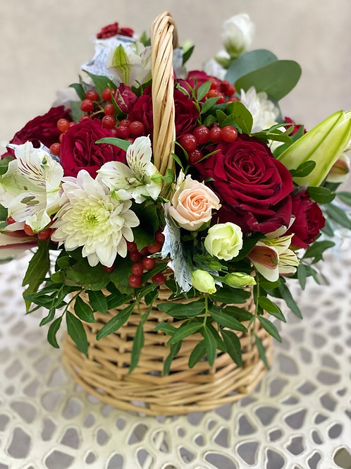 Корзина  с цветов 382