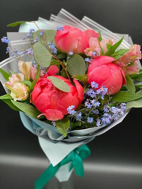 Пионы|Город Цветов|RadaFlowers|доставка цветов в Испанскии Квартал|Цветы в Бунинские Луга|Цветы с доставкой Вяземское