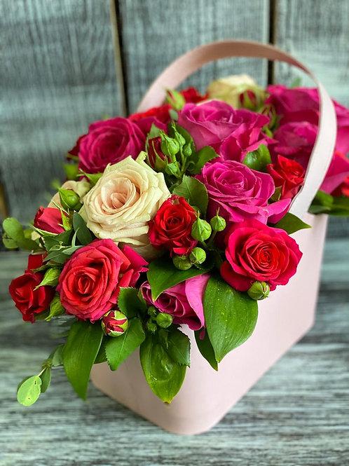 Роза|Город Цветов|КП Рассказовка|Доставка цветов в Москва |Цветы с доставкой Москва в Рассказовка