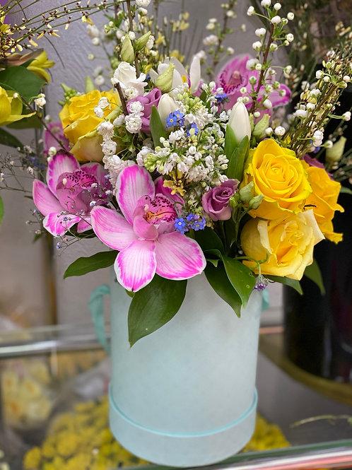 Доставка цветов|Цветы в корзинке|Город Цветов|Доставка Москва и Московская область|Щербинка